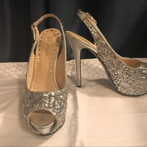 Enzo Angiolini Silver Sparkle Shoes